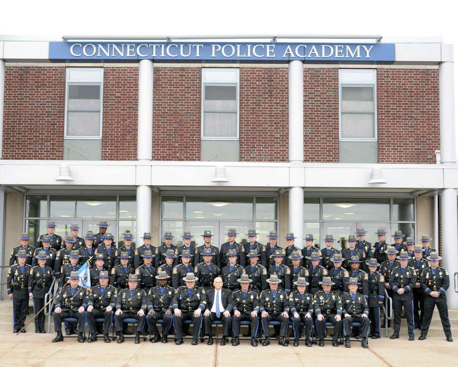 The Connecticut State Police today graduated 28 new State Troopers Jan. 16, all members of the 128th Training Troop, including one who will be stationed at the Westbrook barracks. Photo: Contributed Photo