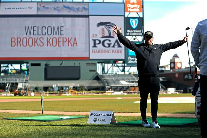Brooks Koepka during 2020 PGA Media Day at Oracle Park in San Francisco, Calif., on Monday, February 17, 2020.