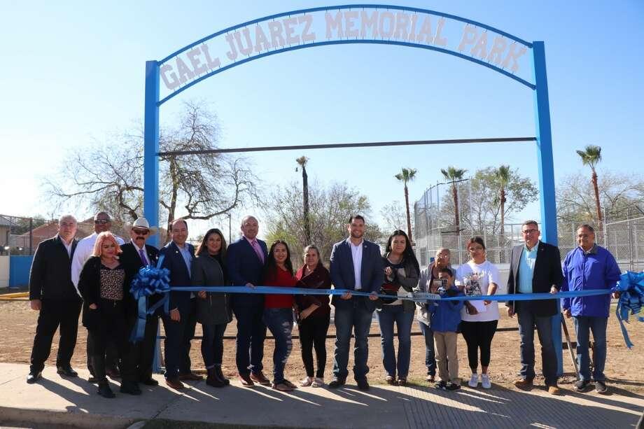 El Cenizo Park was renamed the Gael Juarez Memorial Park in a dedication ceremony Photo: Courtesy