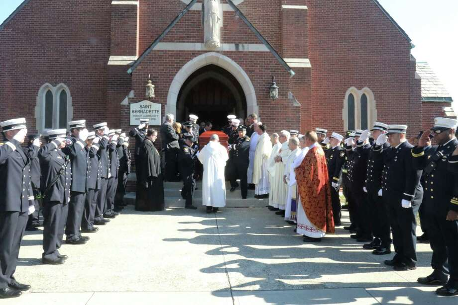 The funeral of William Celentano Jr., 81, at St. Bernadette's Church on the East Shore. Photo: Doc Johnson