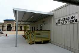 Portable buildings for Henderson Middle School next to Hardin-Jefferson High School. The school's permanent campus was damaged by flooding during Tropical Storm Harvey. Photo taken Thursday 12/14/17 Ryan Pelham/The Enterprise