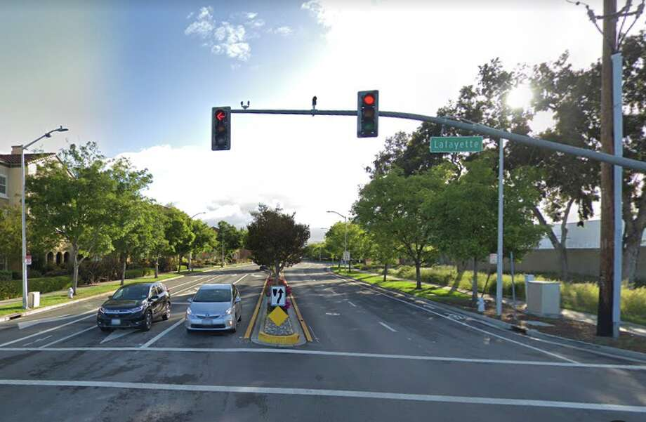 FILE PHOTO --The collision at the intersection of Lafayette Street and Agnew Road was reported about 9:20 p.m. Photo: Google Maps