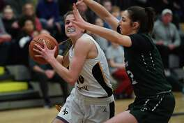 Averill Park's Anna Jankovic drives to the basket against Shenendehowa's Rylee Carpenter during a game on Monday, Feb. 17, 2020 in Averill Park, N.Y. (Lori Van Buren/Times Union)