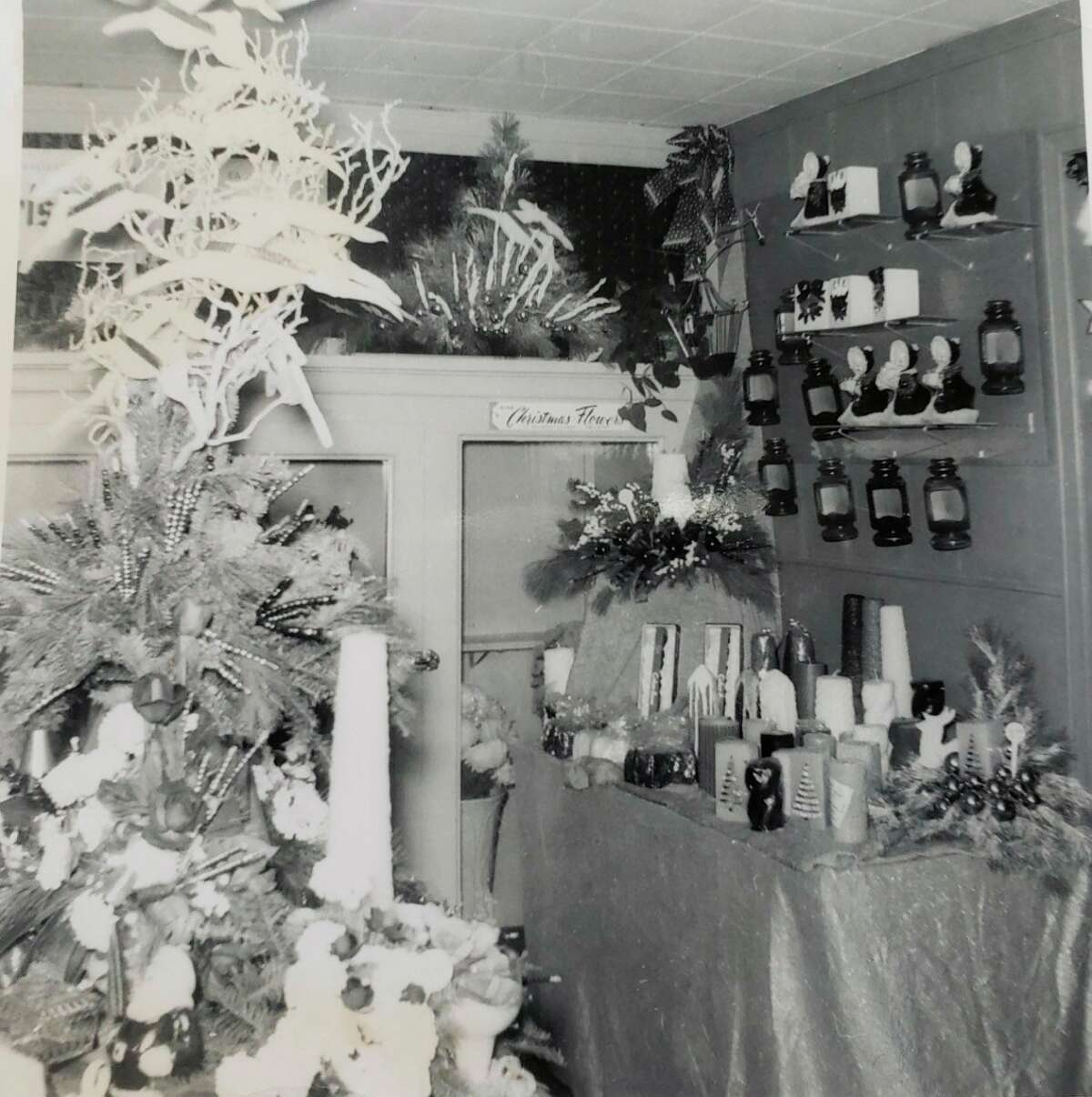 This vintage photo shows the interior of Patterson's Flowers in Reed City, which was established by Bob Patterson's father, Don. (Courtesy photo)