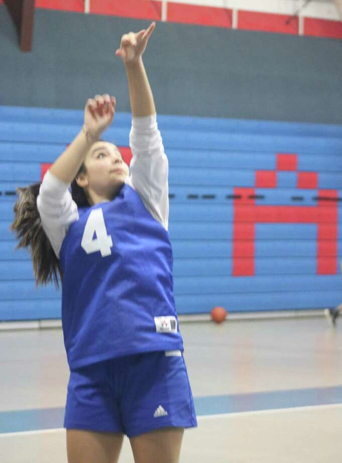 Kami Sauceda's skills will likely be needed in several areas Tuesday night as she and her teammates host Waco Reicher Catholic High School. Photo: Robert Avery