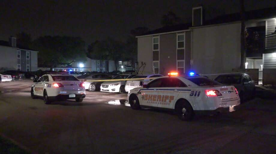 Harris County Sheriff's Office deputies investigate a shooting in the 11800 block of Grant Road on Tuesday, Feb. 18, 2020. Photo: OnScene.TV