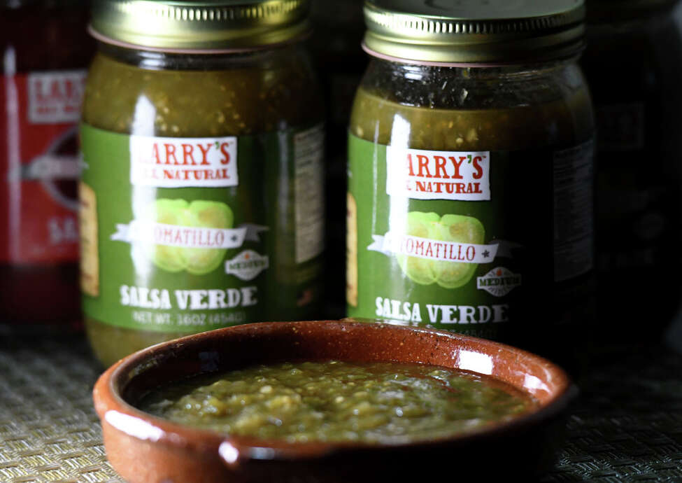 Salsa verde from Larry's Southwest Sauces on Tuesday, Feb. 11, 2020, in Bethlehem, N.Y. Larry Sombke's fledgling food company is expanding. (Will Waldron/Times Union)