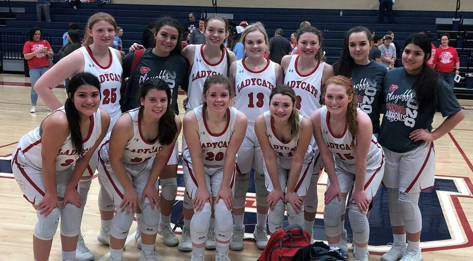 The Splendora Ladycats pose for a photo after a Region III-4A bi-district game against Lumberton on Monday, Feb. 17, 2020 at Hardin-Jefferson High School. Photo: Photo Submitted