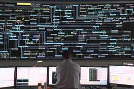 A view of the ISO-New England operations center in Holyoke, Mass., where technicians monitor the operation of the electric transmission grid across the six state region.
