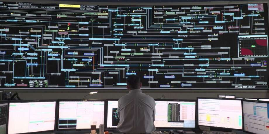 A view of the ISO-New England operations center in Holyoke, Mass., where technicians monitor the operation of the electric transmission grid across the six state region. Photo: Contributed Photo