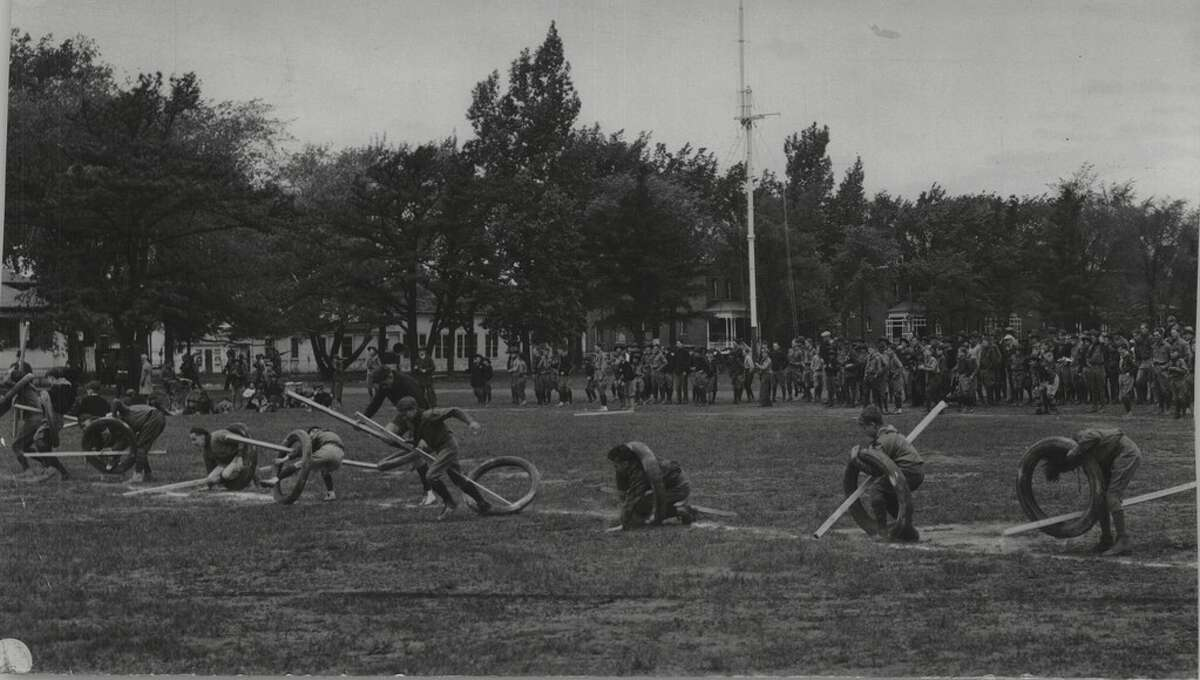 Boy Scouts conduct exercises at Camp Hawley in 1930. The organization has a long history in the Capital Region.