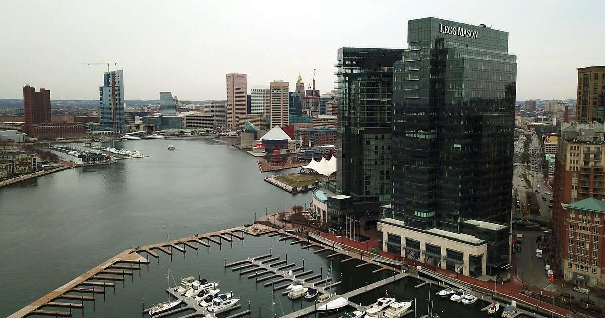 The Legg Mason building is seen in Harbor East on Baltimore's Inner Harbor. Franklin Templeton has agreed to acquire Baltimore's Legg Mason for $4.5 billion, the two companies announced Tuesday morning. (Jerry Jackson/Baltimore Sun/TNS)