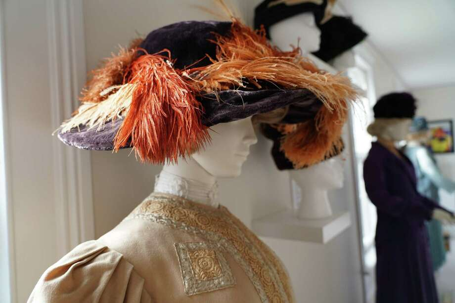 Hat Madness runs through March 8 at the New Canaan Museum and Historical Society, 13 Oenoke Ridge, New Canaan. For more information, visit nchistory.org. Photo: Grace Duffield / Hearst Connecticut Media /