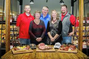 Featured are Ebels family members Tom, Dawn, Mark, Laura and Bob Ebel. According to Ebels General Store co-owner Bob Ebel, the new Reed City store location will be in the old Vic's Supermarket, 716 S. Chestnut St., Reed City. The business will offer a variety of services, includinga bakery, full-service deli, grocery department and meat department with meat cutters on staff.(Courtesy photo)