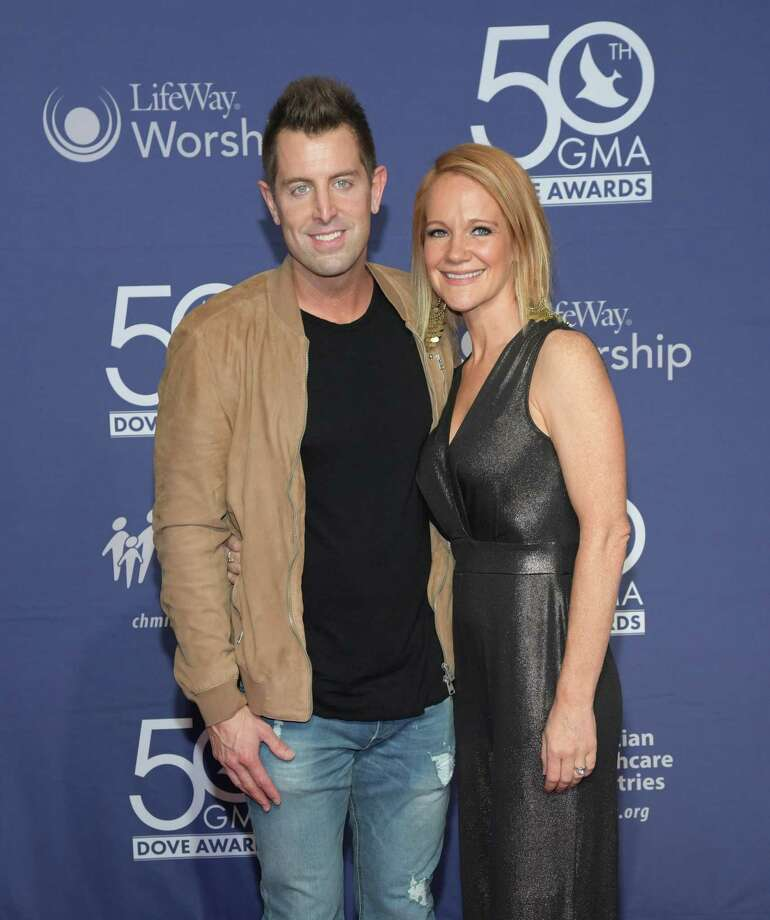 Jeremy Camp and Adrienne Camp attend the 50th Annual GMA Dove Awards in 2019. Photo: Jason Kempin / Getty Images / 2019 Getty Images