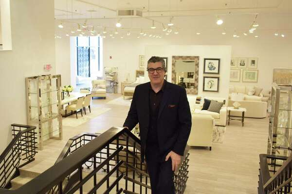 Abraham Esfahani, manager of the new Safavieh Home Furnishings store at 28 Washington St. in South Norwalk, Conn., on the eve of the showroom's grand opening scheduled for Thursday, Feb. 20, 2020.