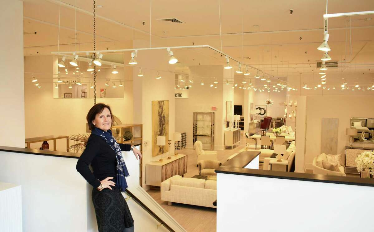 Cathleen Munisteri, assistant manager at Safavieh Home Furnishings in South Norwalk, Conn., in February 2017 at the company's new retail showroom at 28 Washington St.