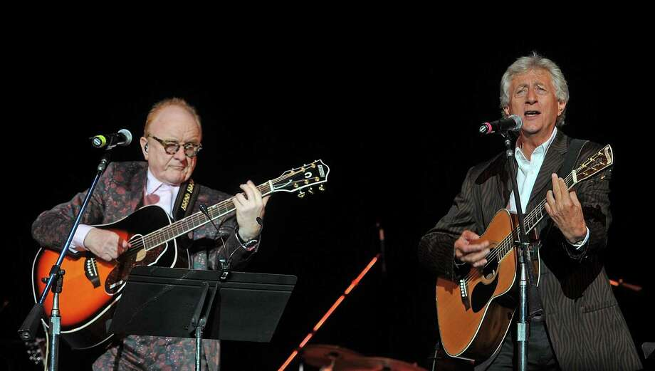 Jeremy Clyde of Chad & Jeremy with Peter Asher of Peter & Gordon, seen here in 2018, will perform two nights at The Kate in Old Saybrook. Photo: Bobby Bank / Getty Images / 2018 Bobby Bank