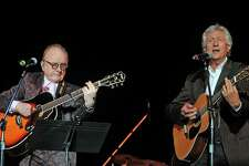 Jeremy Clyde of Chad & Jeremy with Peter Asher of Peter & Gordon, seen here in 2018, will perform two nights at The Kate in Old Saybrook.