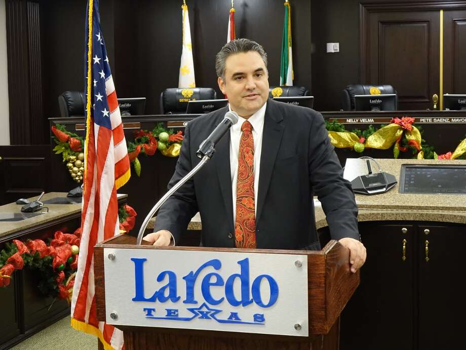 An ethics violation report was filed against Councilman Marte Martinez, pictured, by Laredo Mayor Pete Saenz and Council members George Altgelt and Nelly Vielma. Photo: Courtesy