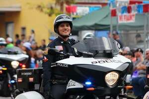 Juan A. Leal Jr. is seen during a parade in Laredo.