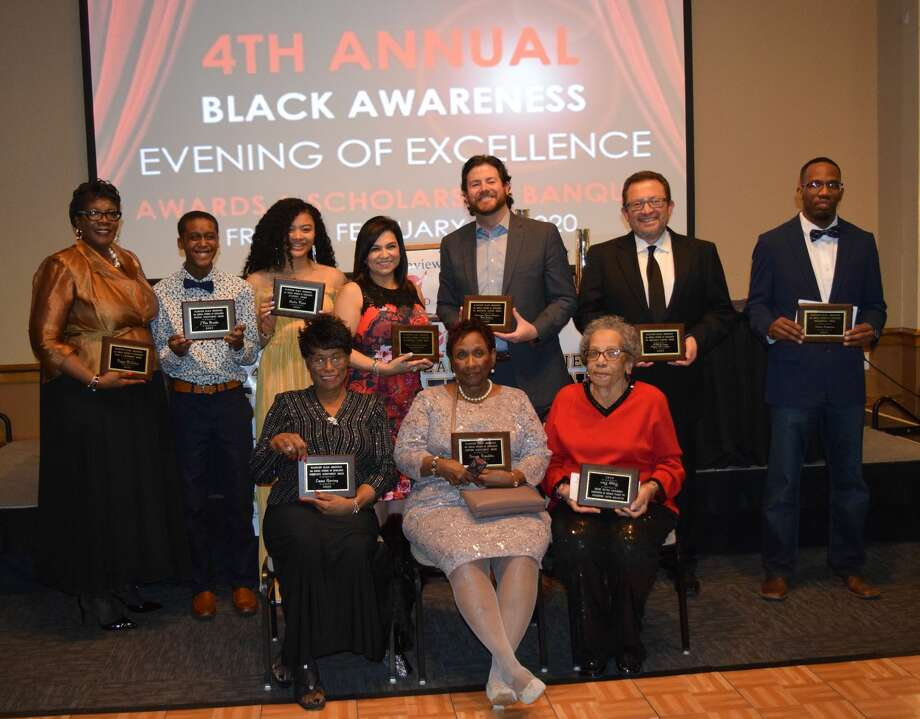 Sixteen individuals were recognized Friday during the Plainview AHEAD's Evening of Excellence event. Photo: Ellysa Harris/Plainview Herald