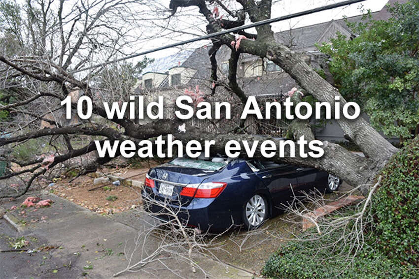 Ten recent weather events in San Antonio - from severe to strange - that broke records and made for some incredible photos.