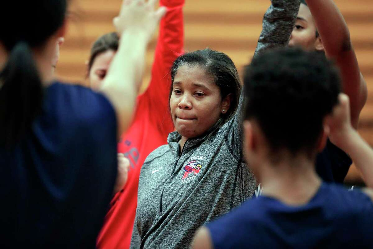 Atascocita girls head basketball coach Veronica Johnson during a practice at the school court Monday, Feb. 10, 2020 in Humble, TX.