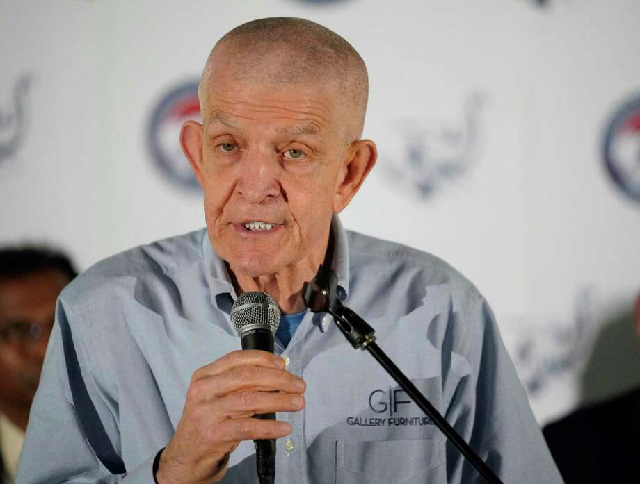 "Jim ""Mattress Mack"" McIngvale is the owner of Gallery Furniture. Photo: Melissa Phillip, Houston Chronicle / Staff Photographer / © 2020 Houston Chronicle"