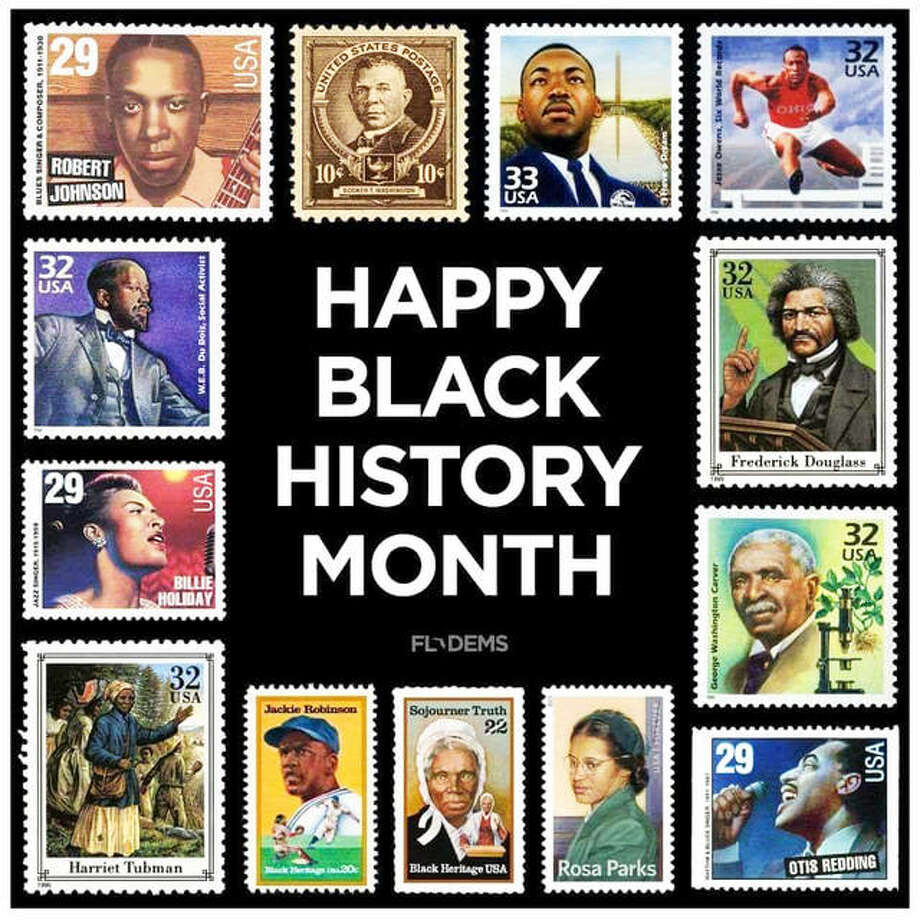 A stamp collage provided by the National Museum of African Americans on Stamps. Photo: Submitted Photos|For The Intelligencer
