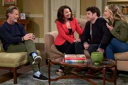 """Scenes from the NBC sitcom """"Indebted,"""" created by Stamford native Dan Levy."""
