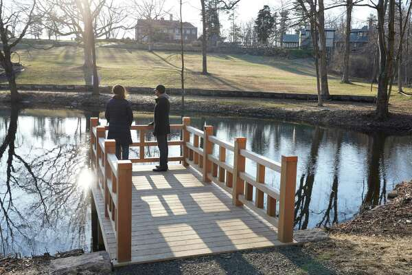 The Waveny Park Conservancy is undertaking $350,000 in renovations at Anderson Pond in New Canaan with money donated by the Harlan and Lois Anderson Family Foundation. A trail has been blazed and bridges built to allow visitors to circumnavigate the water body. A viewing platform has also been constructed for visitors to walk out over the pond.
