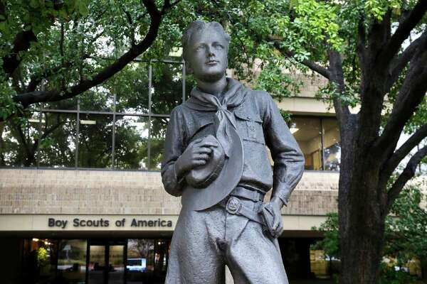 The Boy Scouts of America has filed for bankruptcy protection as it faces a barrage of new sex-abuse lawsuits. The filing Tuesday, Feb. 18, in Wilmington, Delaware, is an attempt to work out a potentially mammoth compensation plan for abuse victims that will allow the 110-year-old organization to carry on. (AP Photo/LM Otero)