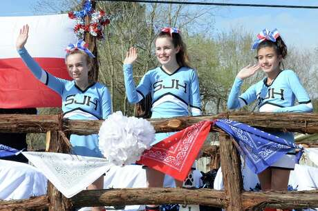 The Stockdick Junior High School Cheerleaders march in the Katy Rodeo Parade in Katy on Saturday, Feb. 15, 2020.