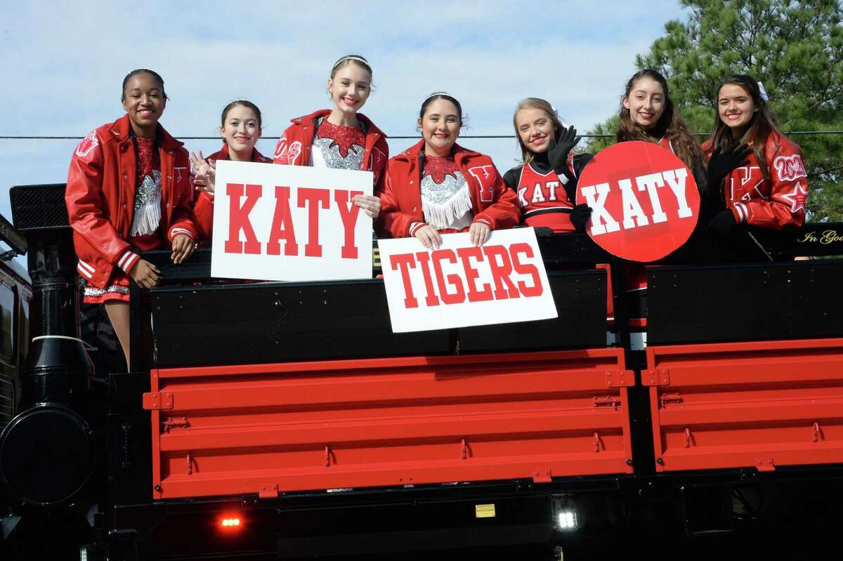 Members of the Katy High School Bengal Brigade ride in the Katy Rodeo Parade on Saturday, February 15, 2020.