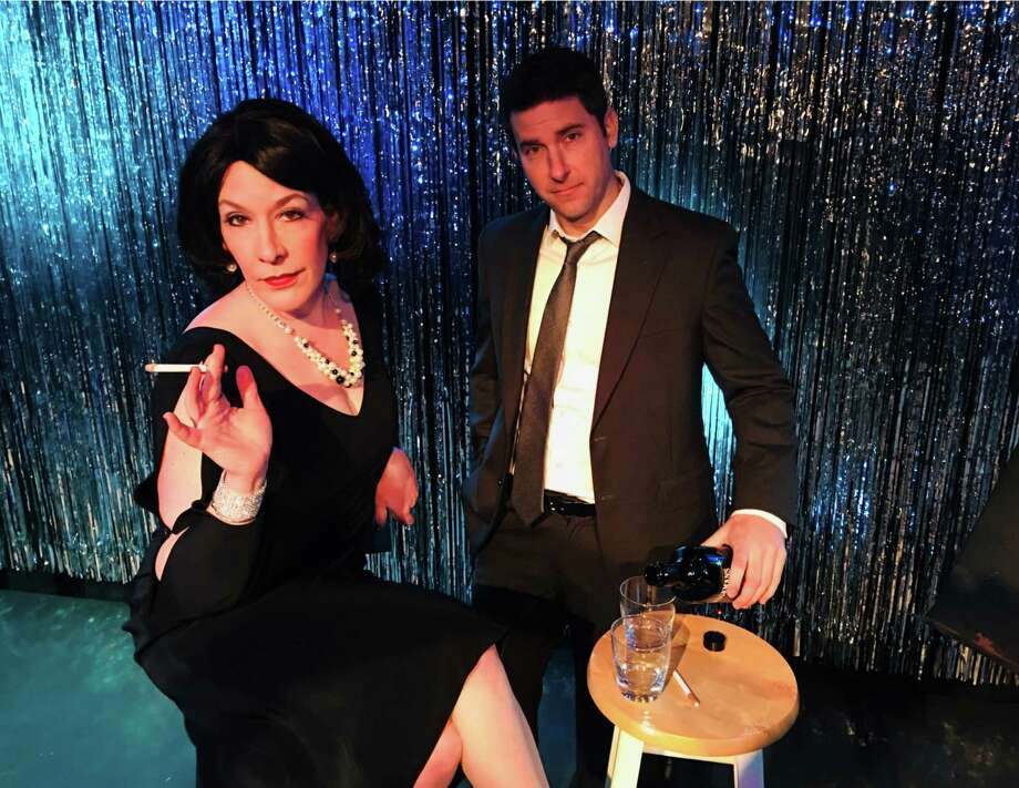 "Kelly Boucher and Chris Pearson star in ""Looped."" Photo: Connecticut Cabaret Theatre / Contributed Photo"