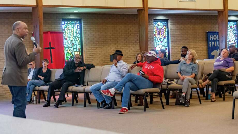 A town hall meeting was held at Empowerment Church in Port Arthur where attendees heard a variety of information to deal with the after effects of the TPC Group plant explosion. Photo was made on December 7, 2019. Fran Ruchalski/The Enterprise Photo: Fran Ruchalski/The Enterprise / 2019 The Beaumont Enterprise