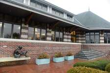 Cos Cob Library in the Cos Cob section of Greenwich, Conn., photographed on Tuesday, Feb. 18, 2020.
