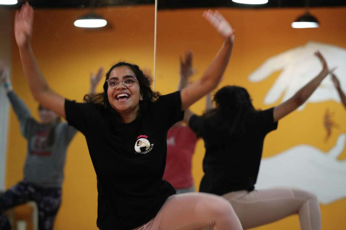 Mimi Varghese leads a class at Bollycurves Studio.