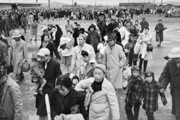 Japanese Americans were forced to relocate to incarceration camps during World War II.