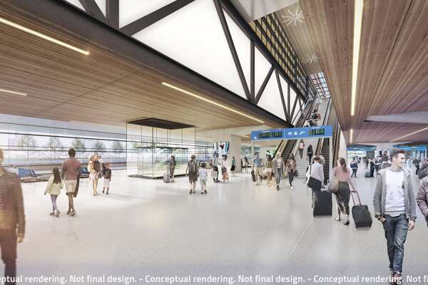Renderings show Texas Central's plans for a high-speed train connecting Houston to North Texas via the Brazos Valley.
