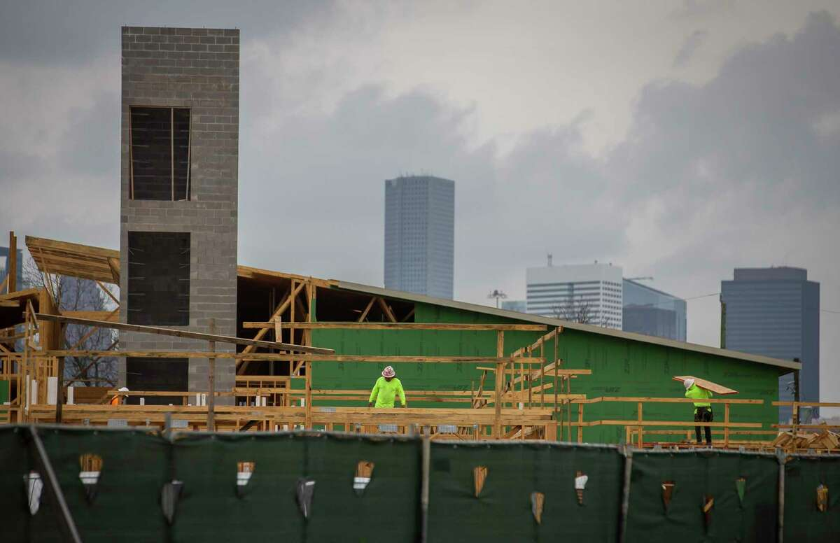 Construction continues on the Law Harrington Senior Living Center, which will feature 112 units for low-income seniors in Houston's Third Ward. The development won 9 percent tax credits, a new round of which the city is set to support Wednesday.