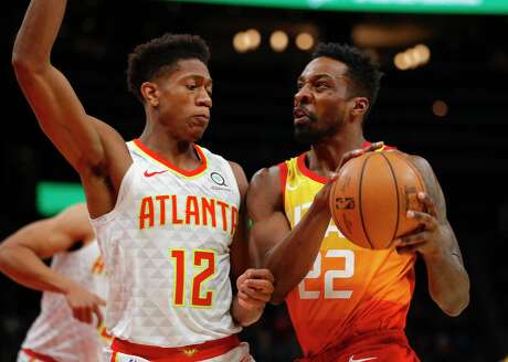 Jeff Green (22), who joined the Rockets in time for Tuesday's practice in San Francisco, hasn't been on an NBA roster since he was waived Dec. 24 by the Utah Jazz.