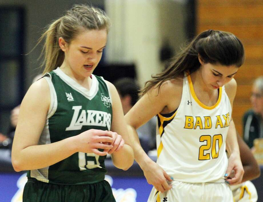 The Bad Axe girls basketball team topped visiting Laker, 46-35, on Tuesday night. Photo: Mark Birdsall/Huron Daily Tribune