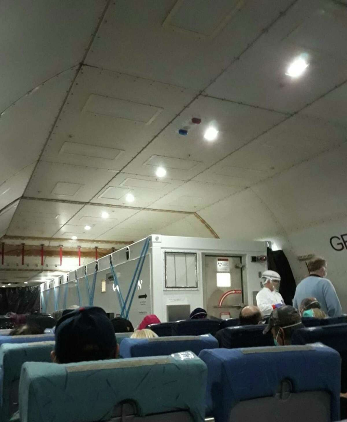 Americans evacuated from the Diamond Princess cruise ship in Japan were flown back on private cargo charter planes featuring isolation chambers for any passengers infected with the coronavirus and those exhibiting symptoms during their trip back to the United States.