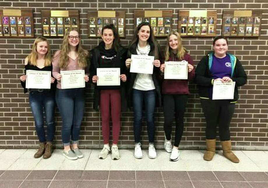 Bad Axe High School students named are grade 12, Haley Schember, grade 11, Meadow Glass, grade 10, Lily Boyle, grade 9, Callie Engler, grade 8, Emily Musolf and grade 7, Raven Peplinski. (Submitted Photo)