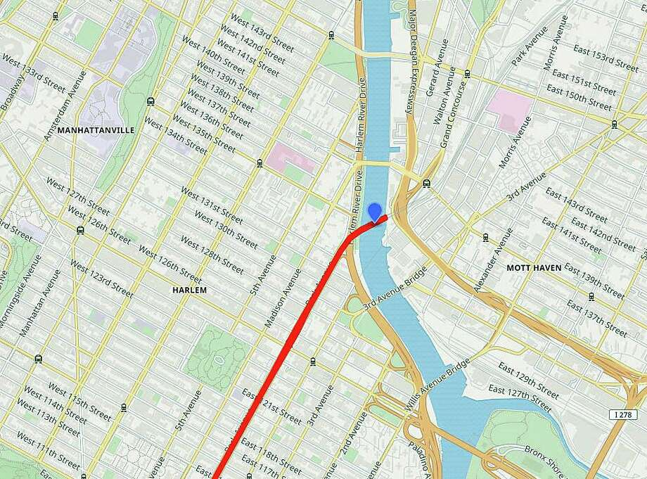 Metro-North says there could be possible delays on Wednesday, Feb. 19, 2020 with the planned opening of the Harlem River Lift Bridge at 138th Street in New York City Photo: WikiMedia Maps