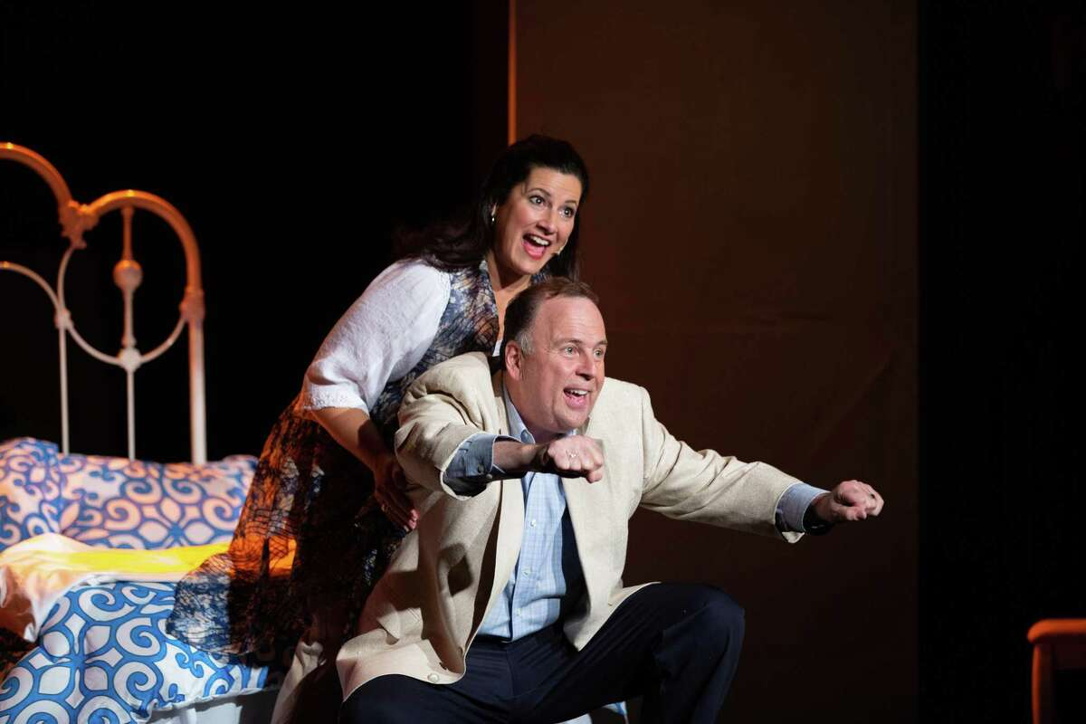 Carla Sullivan and Al Recchia perform at Center Stage Theatre's production of Mamma Mia! By popular demand, the theater has added two more shows -Saturday, Fab. 22, at 2 p.m. and Thursday, Feb. 27, at 8 p.m.