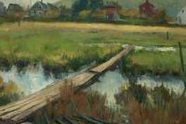 Frank Bruckmann will paint a landscape in oil using a photo for subject matter at the next Shelton Arts League meeting on Feb. 24.