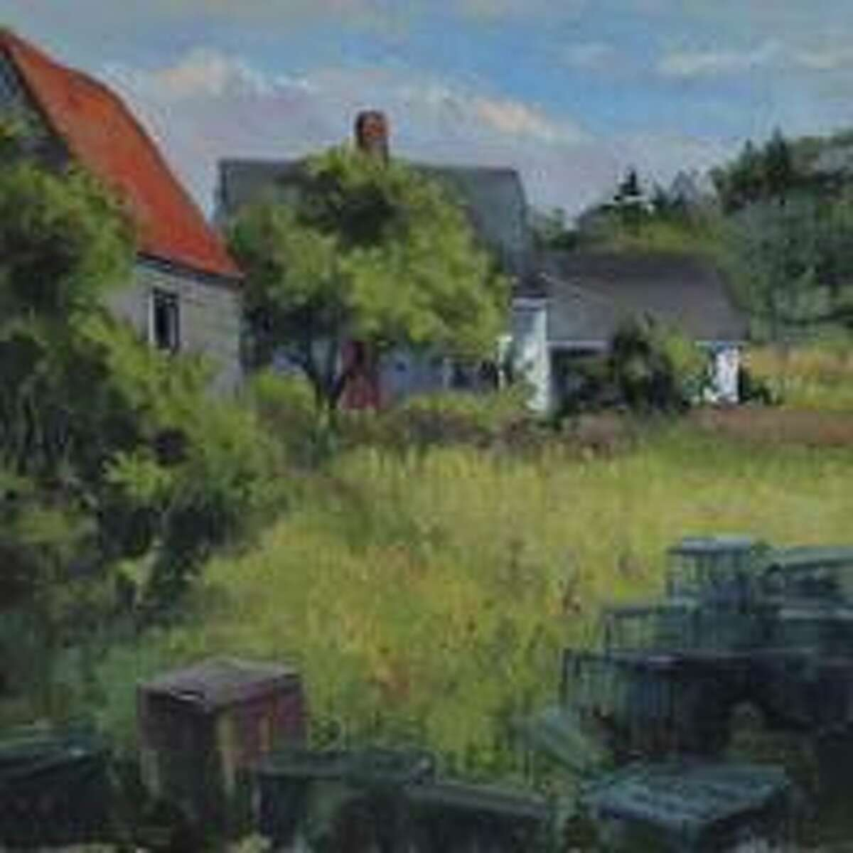 Frank Bruckmann will paint a landscape in oil using a photo for subject matter.